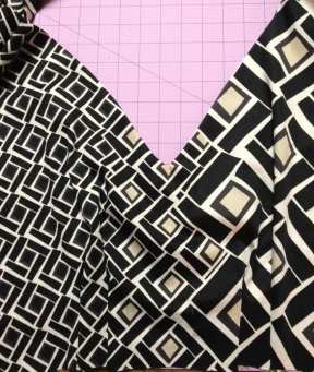 Using a border print fabric in a dress - Anna Dress bodice - By Hand London