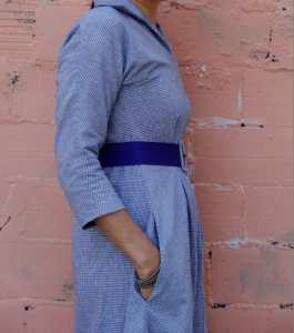 Bluegingerdoll Winifred Dress - pocket added - indie sewing pattern