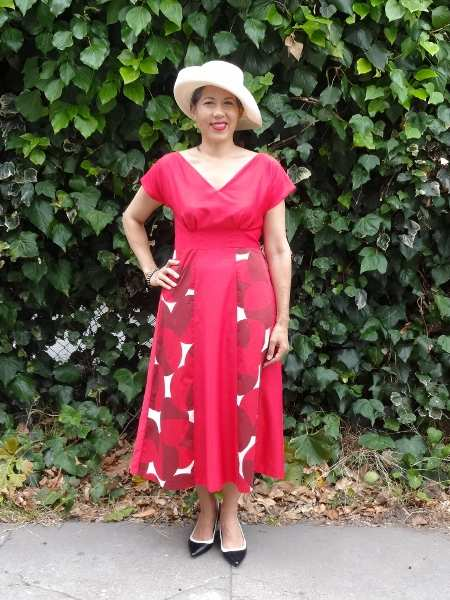 Red Anna Dress - By Hand London - csews.com