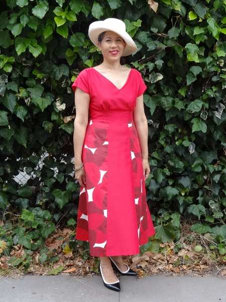 Red Anna Dress - front view - By Hand London - csews.com