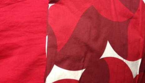 Stashbust 2014 - red circle fabric - csews.com - C Sews