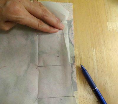 Marking pleats on Chardon skirt - csews.com