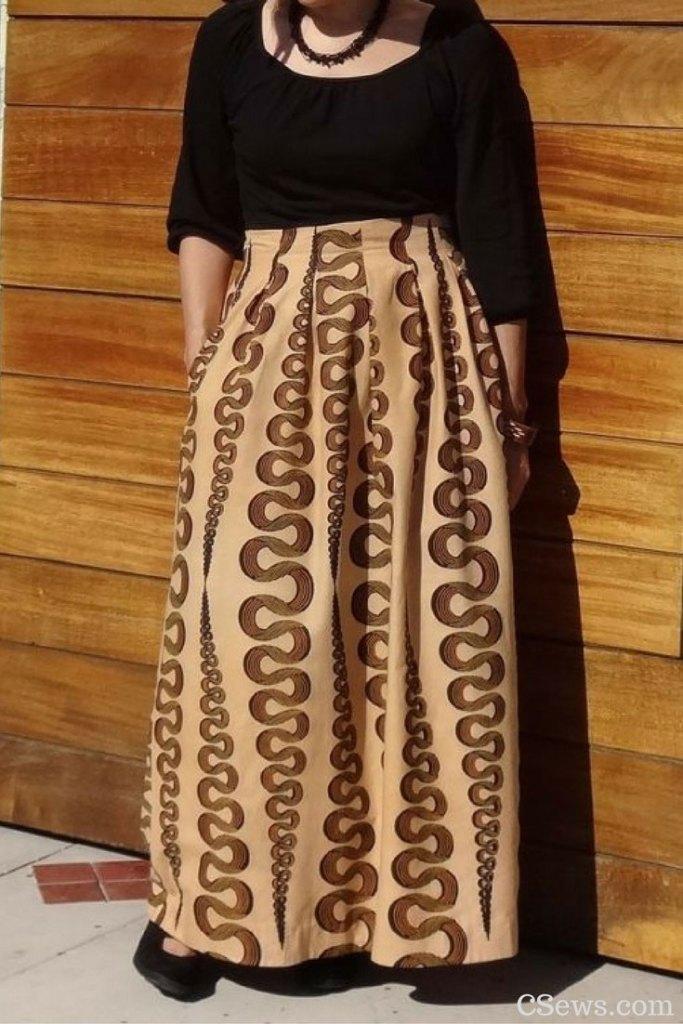 Deer & Doe - Chardon Skirt sewing pattern -lengthened to a maxi skirt