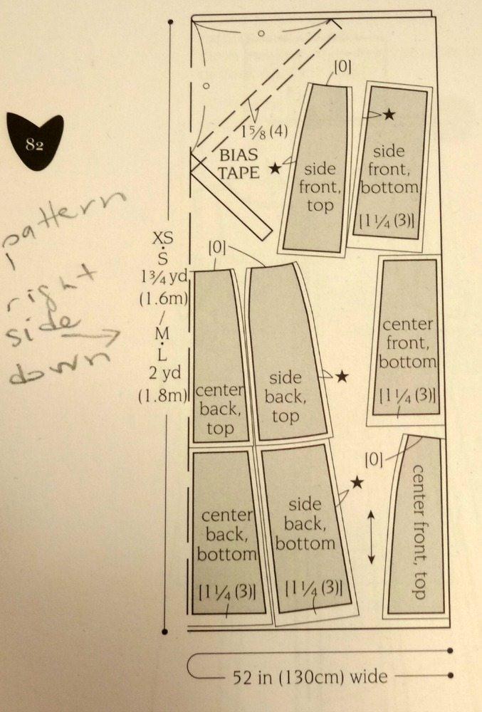 A-line block skirt - Basic Black - cutting layout - csews.com