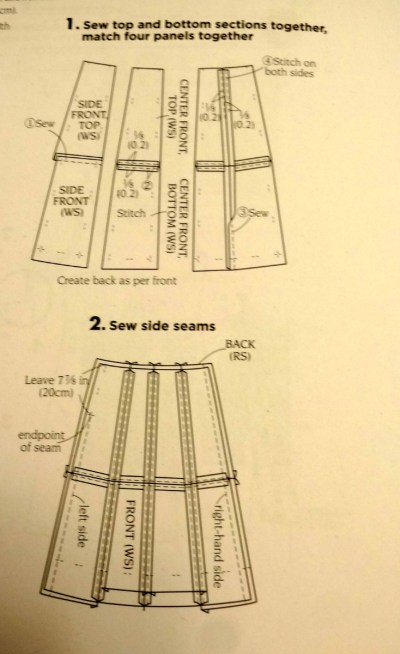 Skirt instructions - Basic Black - A-line block skirt