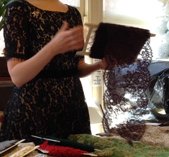 Black Chantilly lace - Brritex Fabrics - csews.com