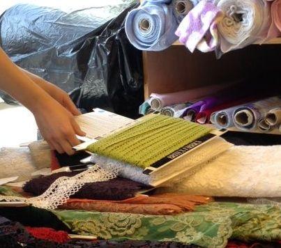 Bobbin lace - green - Britex Fabrics - csews.com