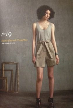 Semi-flared Culottes - She Wears the Pants by Yuko Takada - csews.com