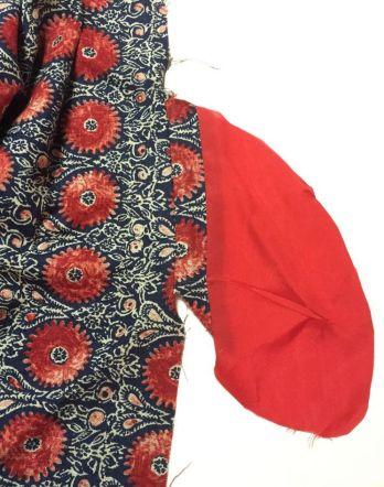 Linen fabric - pocket detail for Chardon Skirt - csews.com