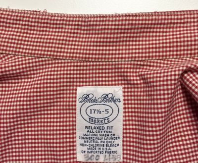 Shirt collar removed - frayed edge - csews.com