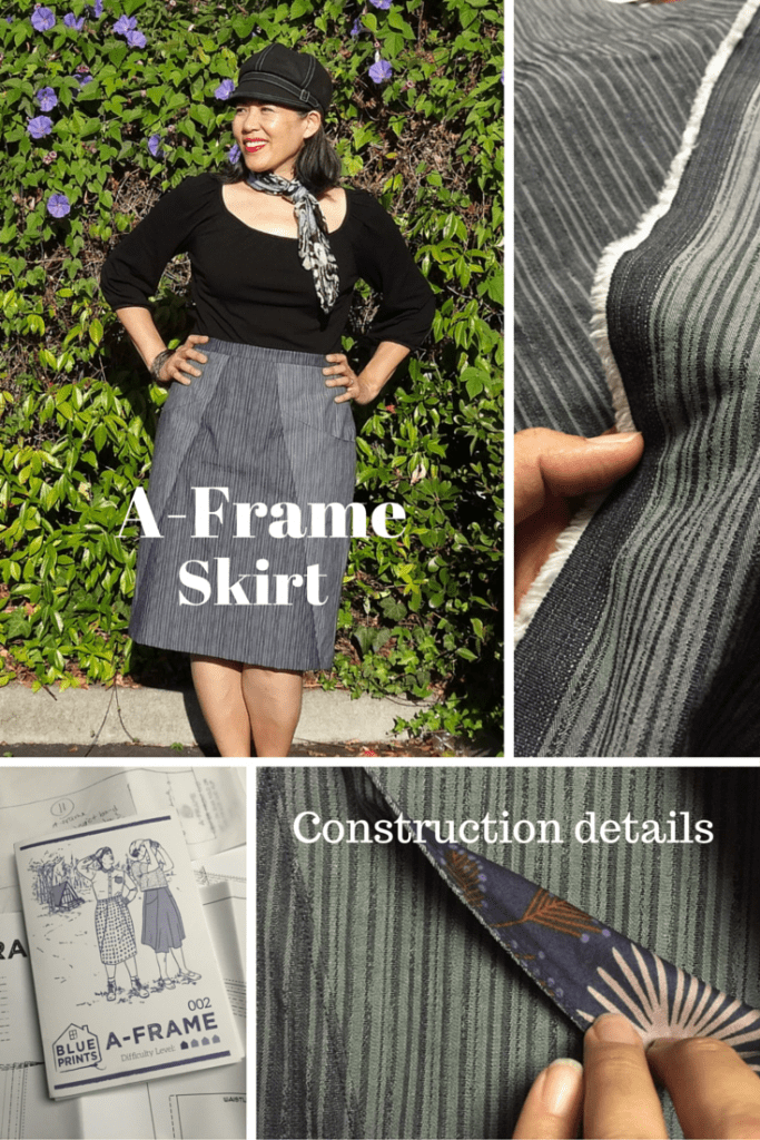 A-Frame skirt - Blueprints for Sewing pattern - construction details - csews.com