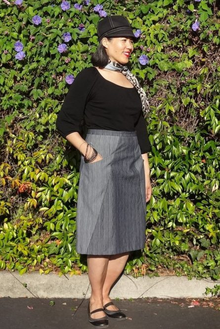A-Frame skirt - Blueprints for Sewing - right side - csews.com