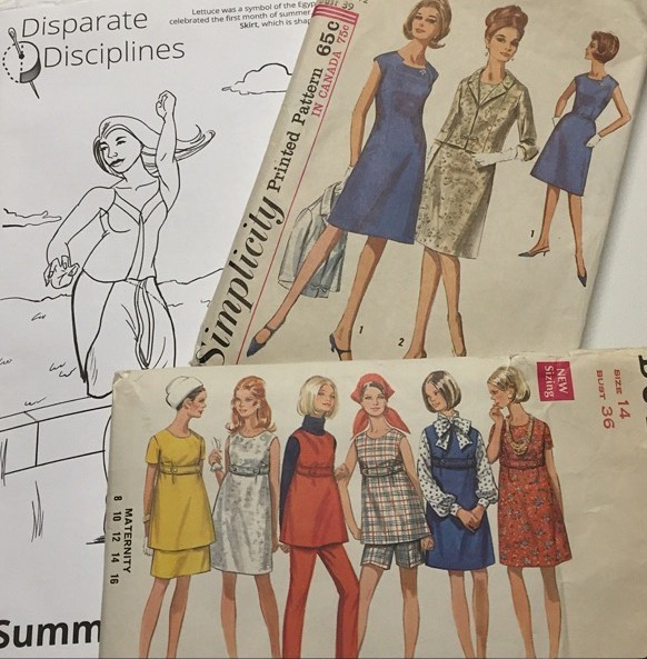 Sewing patterns from Bay Area Sewists pattern swap