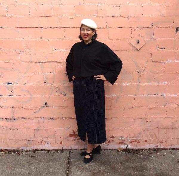 Nita Wrap Skirt - Sew DIY pattern - with vintage Vogue jacket - csews.com