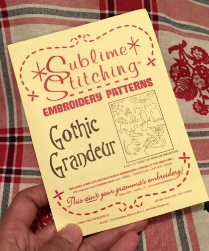 Sublime Stitching - Gothic Grandeur - Craftcation 2016 - csews.com