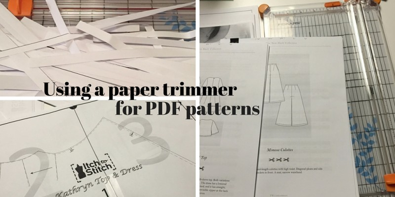 Using a paper trimmer for PDF patterns - csews.com