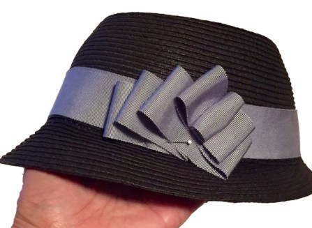 How to make a removable ribbon hat band - tutorial, millinery, Petersham ribbon