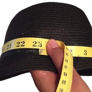 Measuring crown of hat