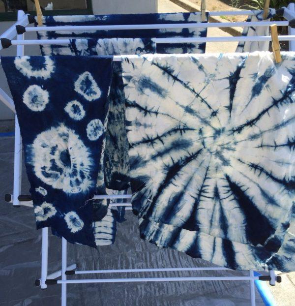 Shibori - Indigo dye results - Bay Area Sewists - CSews.com