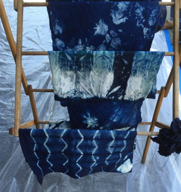 Indigo dyed fabric - Bay Area Sewists meetup - CSews.com