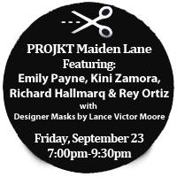 PROJKT Maiden Lane - Britex Fabrics fall fashion show - San Francisco, Sept. 23, 7 pm to 9 pm