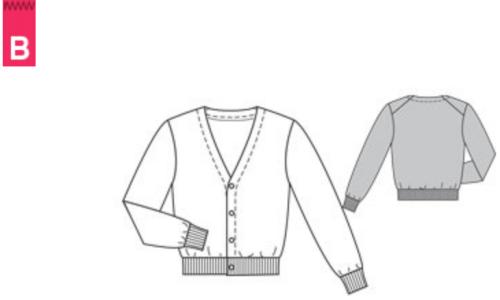 Burda 6030 men's cardigan sweater