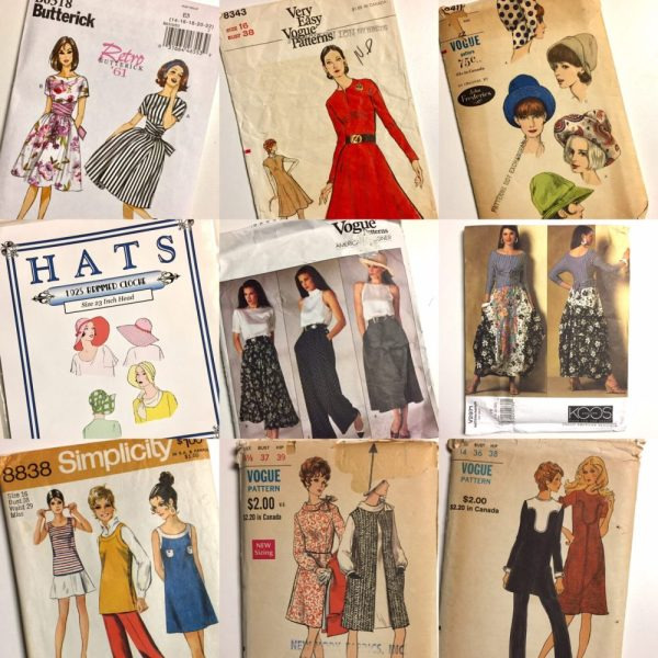 Sewing plans 2017 - vintage and out-of-print patterns for dresses, hats, pants and skirts