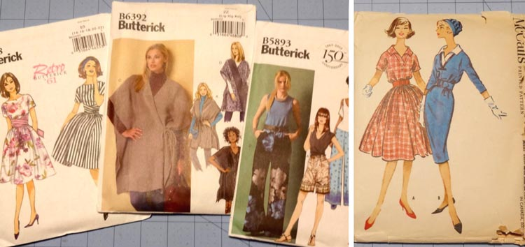 Sewing patterns, sewing queues and sewing projects