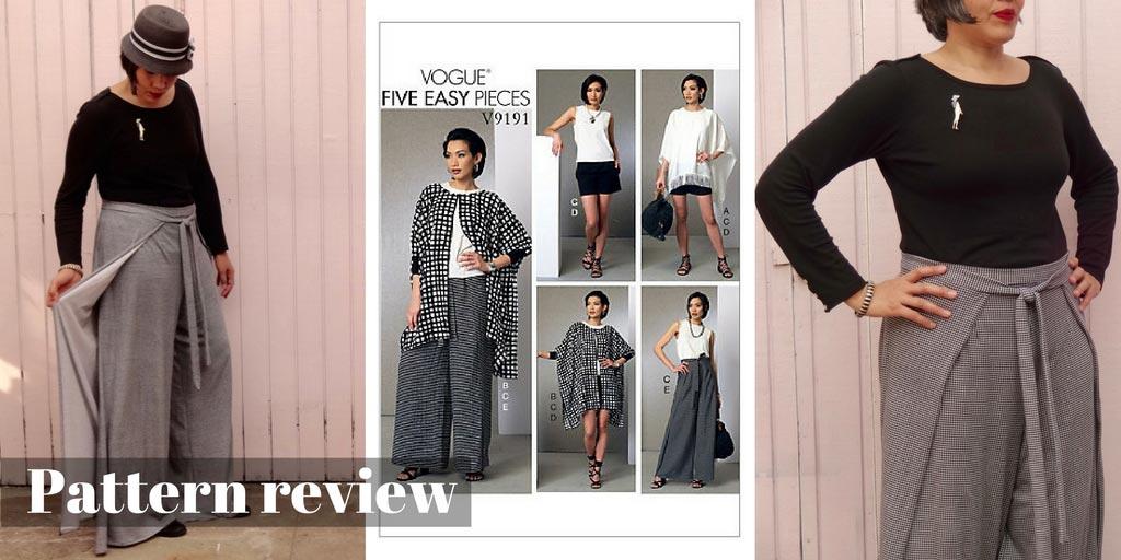 Wrap pants Vogue 9191 - pattern review