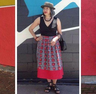 SeamstressTag - Chuleenan of C Sews - Anna Dress, Chardon skirts - csews.com