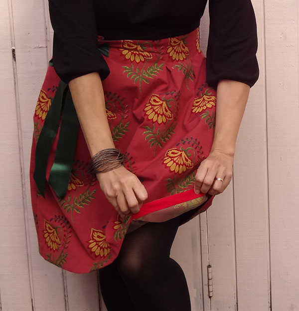 Bias tape hem of Chardon Skirt