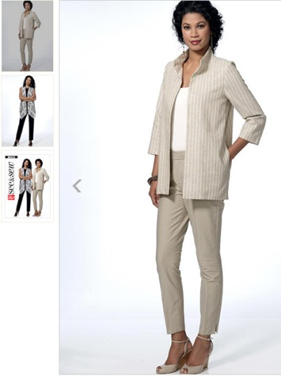Butterick - B6443 sewing pattern - This jacket is a nice option for women with Alzheimer's because it doesn't have any buttons.