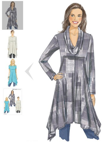 V9224 - Vogue Patterns - handkerchief-hem tunic - an option for women with Alzheimer's