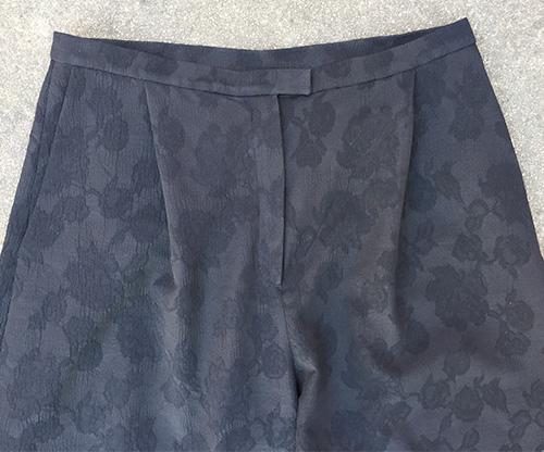 Mimosa Culottes - diagonal front pleat detail - CSews.com