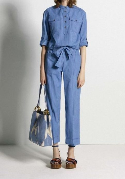 Photo - Tory Burch - pre-fall 2017 - denim fashion
