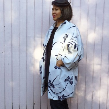 Sapporo Coat - Papercut Patterns sewing pattern - mockup made from a bed sheet - C Sews