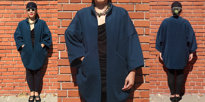 Papercut Patterns Sapporo Coat – my teal wool version