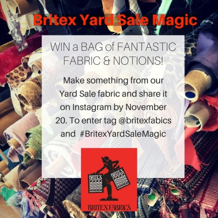 Britex Yard Sale Magic giveaway