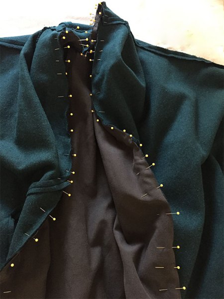 Sapporo Coat lining, Papercut Patterns - CSews