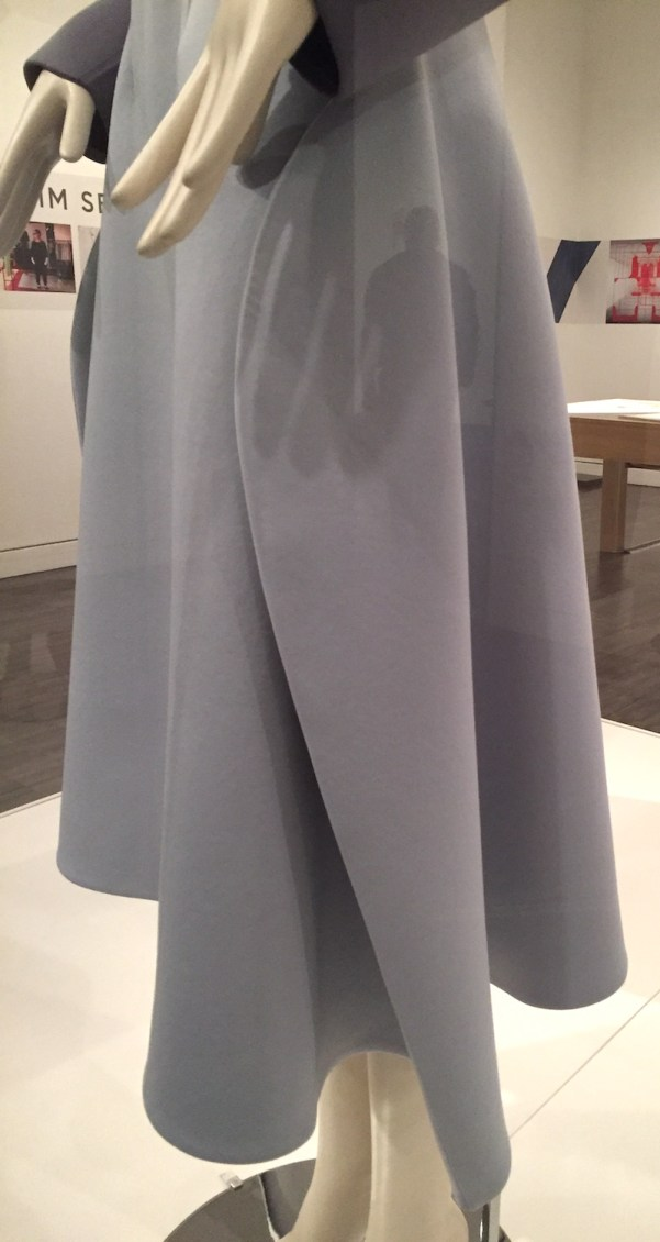 Im Seonoc - scuba skirt detail - Couture Korea exhibit at Asian Art Museum