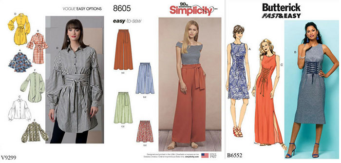 Big Four 2018 spring patterns – Vogue, Butterick and more
