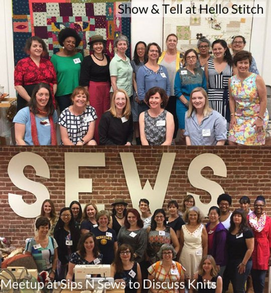Bay Area Sewists - a sewing community - at Hello Stitch and Sips N Sews