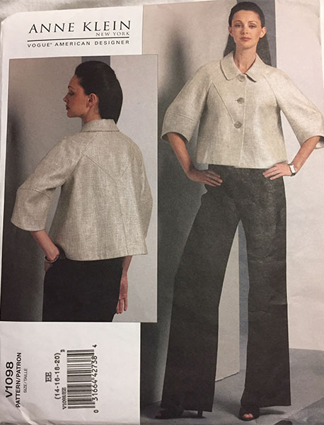 V1098 - Anne Klein Vogue sewing pattern - CSews.com