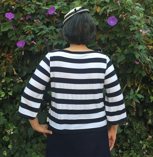 Striped knit top - She Wears the Pants by Yuko Takada - Japanese sewing book Tuttle Publishing