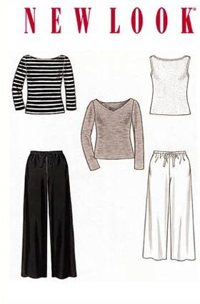 New Look 6838 boat neck top, pants, separates