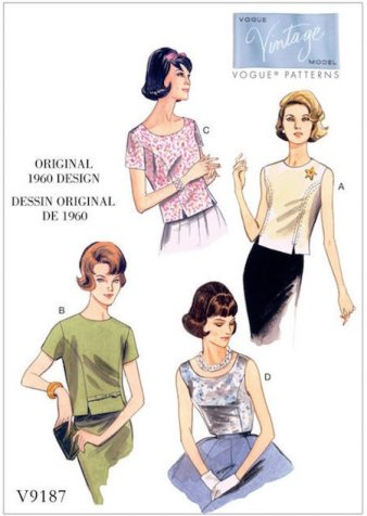 V9187 - Vintage Vogue reissue - design from 1960 - sewing plans - CSews.com