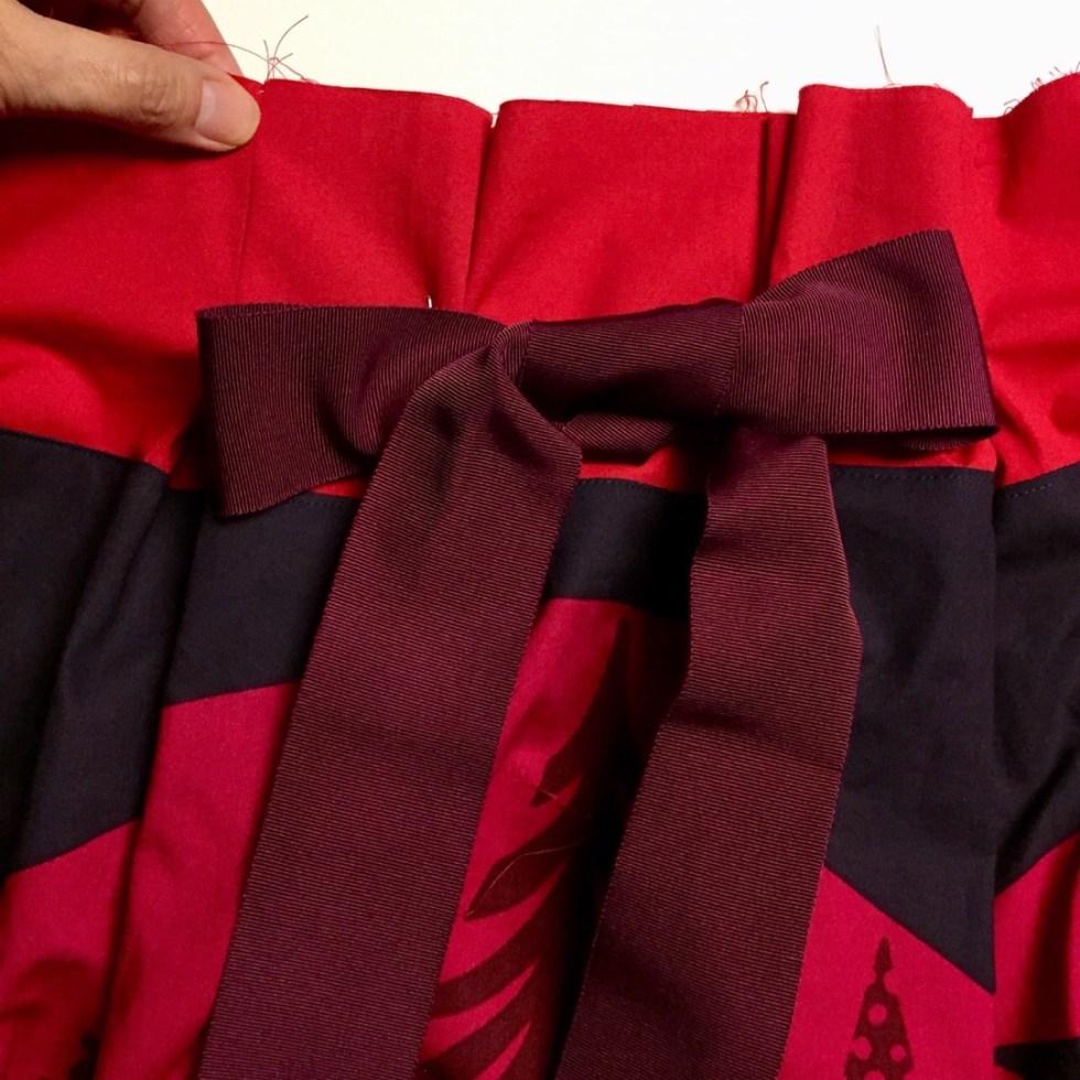 Ribbon tie for Frocktails skirt - Marimekko fabric - CSews.com