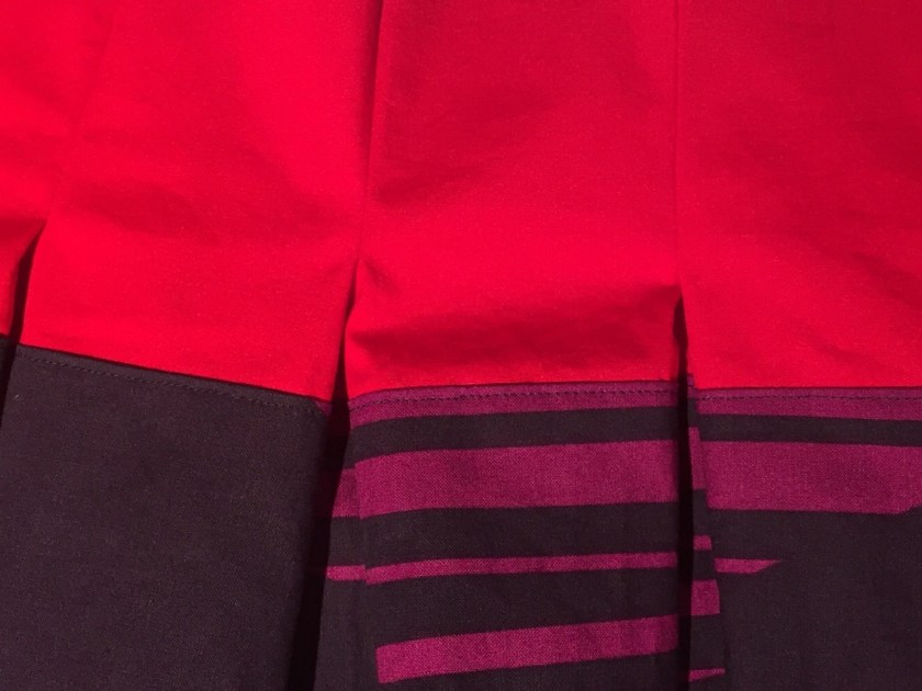 Frocktails skirt - inverted box pleats on the back- CSews.com
