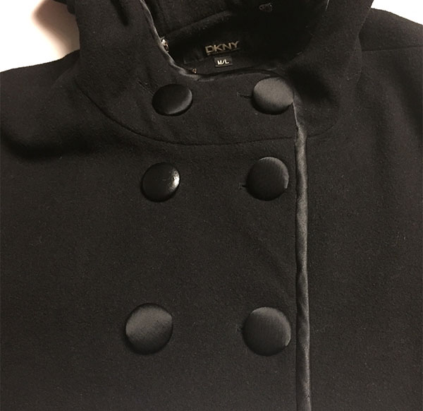 Refreshed coat - covered the buttons with new fabric