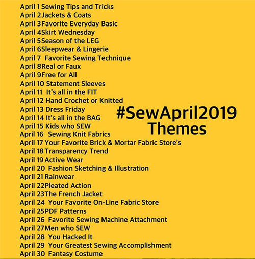 Sew April 2019 - Instagram contest